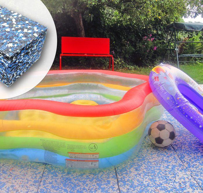 Детский бассейн на подложке для бассейна ТОТФОАМ 50