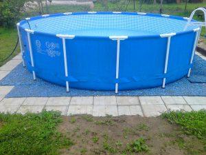Подложка под каркасный бассейн