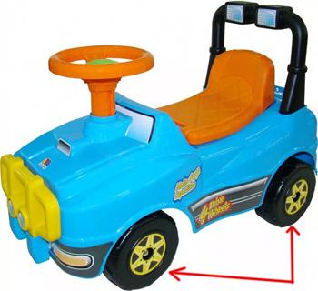 Самоклеющаяся лента ППЭ на колесиках игрушки